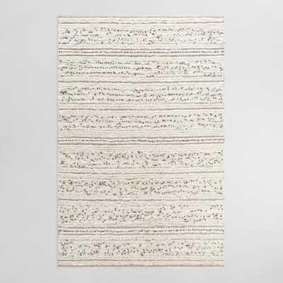 Ivory Moroccan Style Wedding Blanket Wool Area Rug - 3' x 5' - World Market/Cost Plus