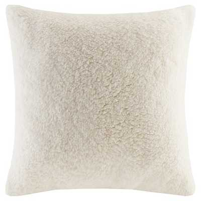 """Faux Shearling Decorative Pillow - 18"""" x 18"""" - Polyester Fill - Target"""