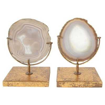 """Agate on Stand - Natural (4""""H) - Includes 1 Stand Only - Target"""