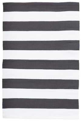 CATAMARAN STRIPE GRAPHITE/WHITE INDOOR/OUTDOOR RUG-8.5 x 11 - Dash and Albert