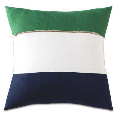"""Pettipang Pillow - 18"""" W X 18"""" H - Down insert - Domino"""