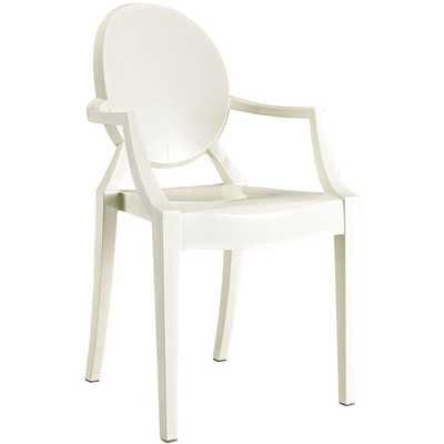 CASPER DINING ARMCHAIR IN WHITE - Modway Furniture