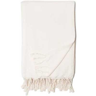 Herringbone Throw Blanket - White - Wayfair