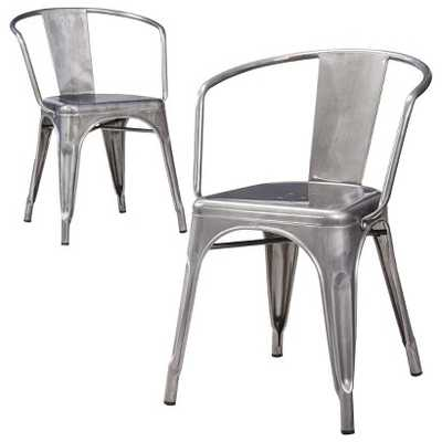 Carlisle Metal Dining Chair (Set of 2) - Natural Metal - Target