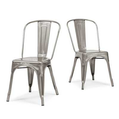 Tabouret Bistro Gunmetal Side Chairs (Set of 2) - Overstock