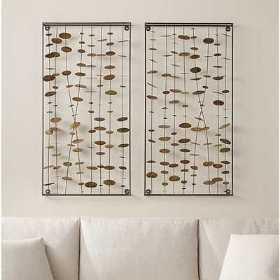 Set of 2 Chimes Metal Wall Sculptures - Crate and Barrel