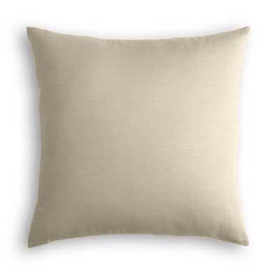 Throw Pillow - Canvas Flax - 20x20 - down insert - Loom Decor
