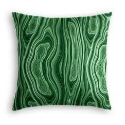 Green Malachite Throw Pillow -Insert not included - Loom Decor