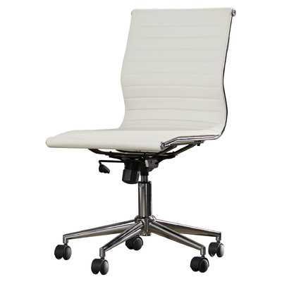 Willowridge Mid-Back Adjustable Office Chair - White - Wayfair