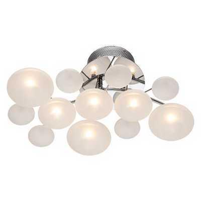 possini euro lilypad etched glass light - Lamps Plus