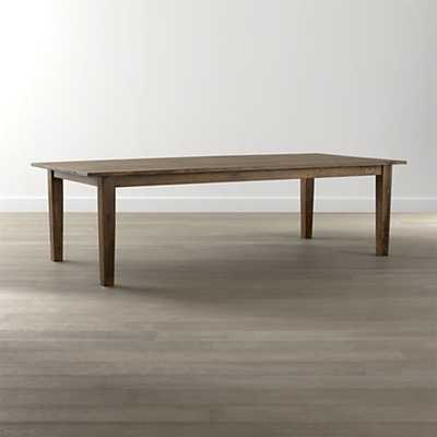 "Basque Honey 82"" Dining Table - Crate and Barrel"