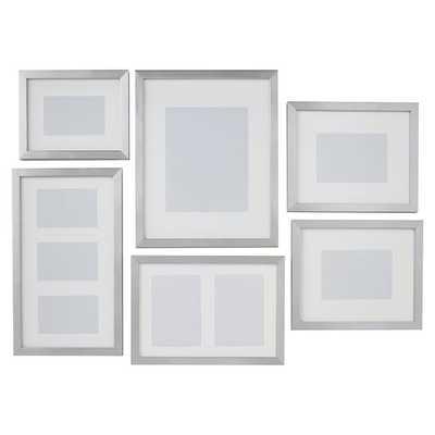 Gallery Frames, Set of 6, Metallic Silver - Pottery Barn Teen