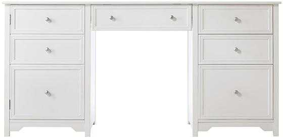 Oxford Executive Desk - White - Home Depot