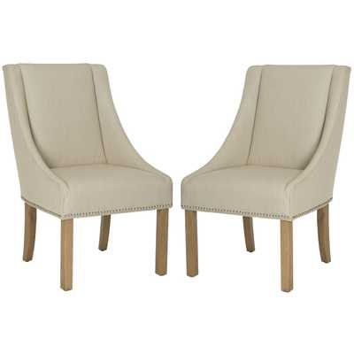 Safavieh Morris Sloping Arm Dining Chair (Set of 2) - Overstock