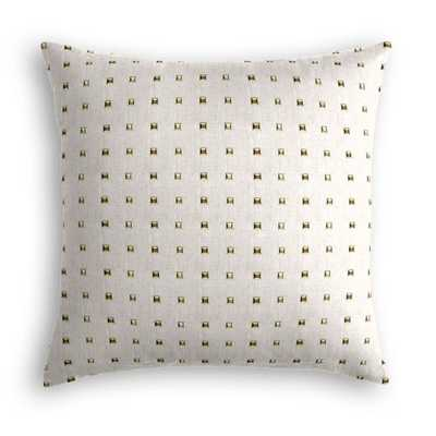 "Throw Pillow - Stud Muffin - Oatmeal - 18"" x 18"" - Down Insert - Loom Decor"