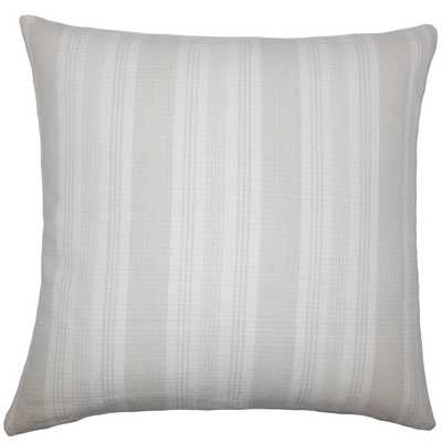 "Reiki Striped Pillow Putty - 18""x18"" - Down Insert - Linen & Seam"