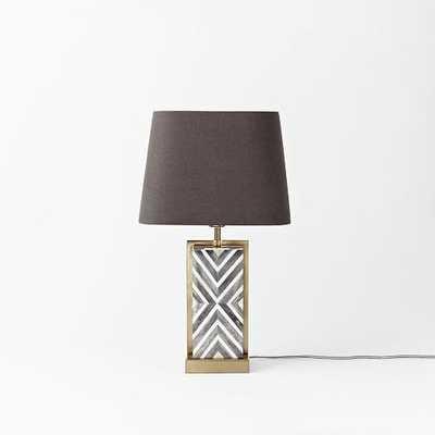Chevron Deco Table Lamp - Small - West Elm