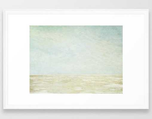 "Beach Art - 26"" x 38"" - White frame - With Mat - Society6"