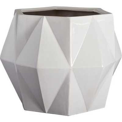 Isla white planter - White - CB2
