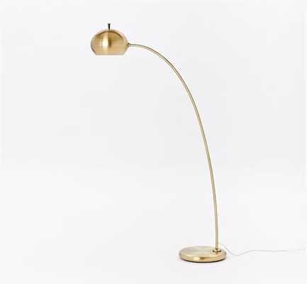Petite Arc Floor Lamp - Antique Brass - West Elm