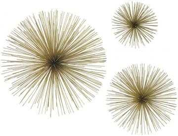 Gold Starbursts - Set of 3 - Home Decorators