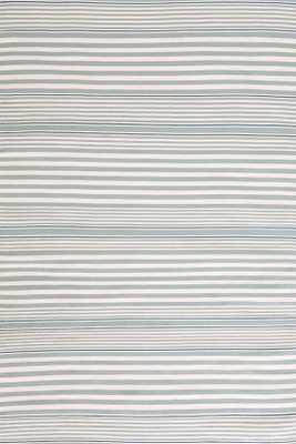 RUGBY STRIPE LIGHT BLUE INDOOR/OUTDOOR RUG - 4' x 6' - Dash and Albert