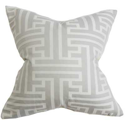 Roscoe Geometric Pillow Gray - 18x18 with Poly insert - Linen & Seam
