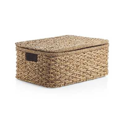 Kelby Small Rectangular Lidded Basket - Crate and Barrel
