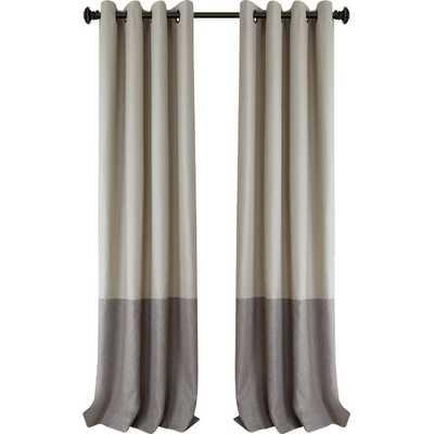 Arrowsmith Striped Blackout Thermal Grommet Single Curtain Panel - Linen 52x95 - AllModern