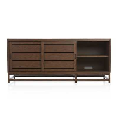 Clapboard Bourbon Media Console - Crate and Barrel