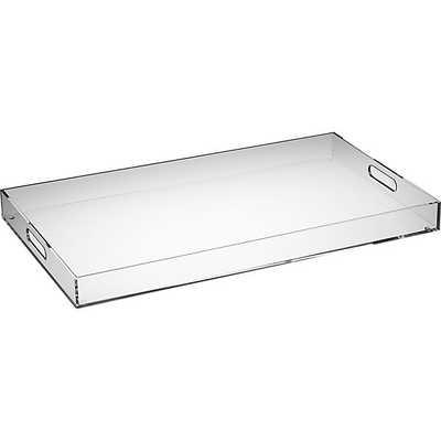 Format clear rectangular tray - CB2