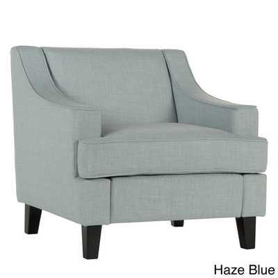 Winslow Concave Arm Modern Accent Chair - Haze Blue - Overstock
