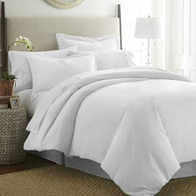Simply Soft™ Duvet Cover Set- White- Queen - Wayfair