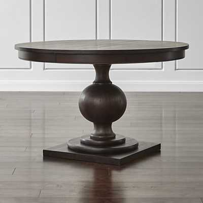 "Winnetka 48"" Round Extendable Dining Table - Crate and Barrel"