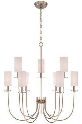 Monroe 9-Light Chandelier - Satin Gold - Home Decorators