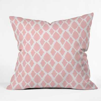 "Blushed Ikat - 18"" x 18""-Pink -With Insert - Wander Print Co."