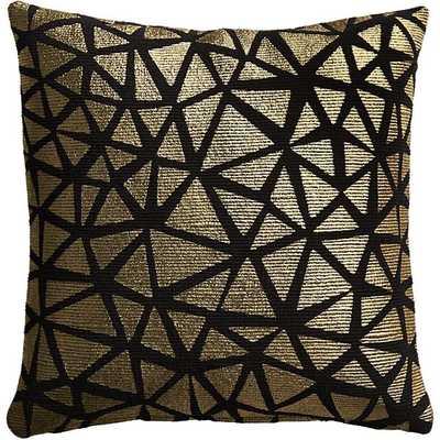 "Soiree black pillow 16"" x 16"" - Down-alternative Insert - CB2"