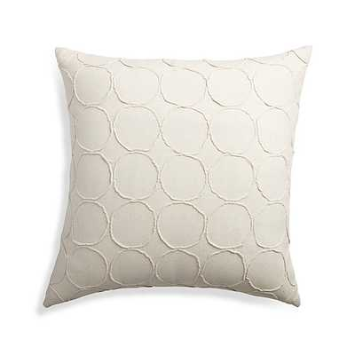 """Genna 20"""" Pillow with Down-Alternative Insert - Crate and Barrel"""