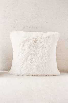 Plum & Bow Faux Fur Pillow - 18x18- insert not included - Urban Outfitters