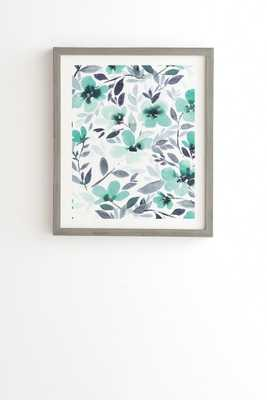 Espirit mint Wall Art - 14x16.5 Framed (Weathered Gray) - Wander Print Co.