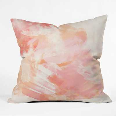 "FLAMINGO WATERCOLOR Outdoor Throw Pillow - 18"" x 18"" - Wander Print Co."