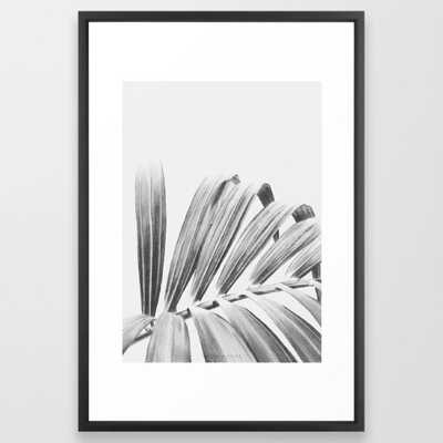 "Palm Art Print - 20"" x 26"" - Vector Black Frame - Society6"