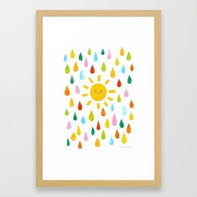 You Are My Sunshine- 15'' x 21''- Conservation natural frame with mat - Society6