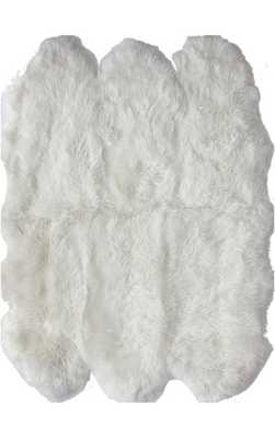 "Shag Sexto Sheepskin with Faux Backing Rug - 3' 11"" x 5' 3"" - Rugs USA"