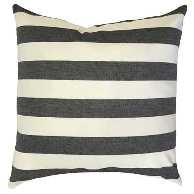 Tailyn Striped Pillow - 18x18 - Down insert - Linen & Seam