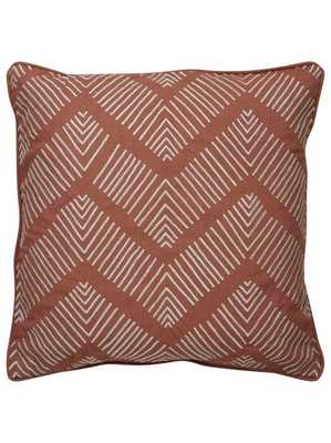 """KASIA PILLOW, TERRACOTTA - 18"""" x 18"""" - Polyester Filled - Lulu and Georgia"""
