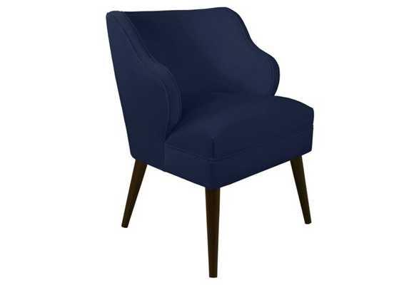 Kira Chair, Navy Velvet - One Kings Lane