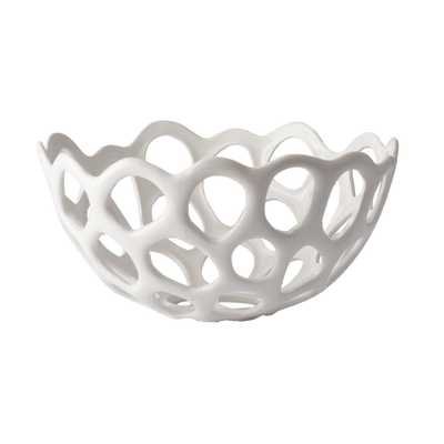 Perforated Porcelain Bowl - Burke Decor