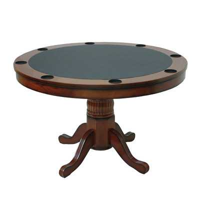 Round Poker Table - Cappuccino - Wayfair
