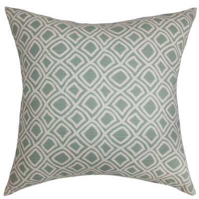 Cacia Geometric Pillow Surf - Down Insert - Linen & Seam